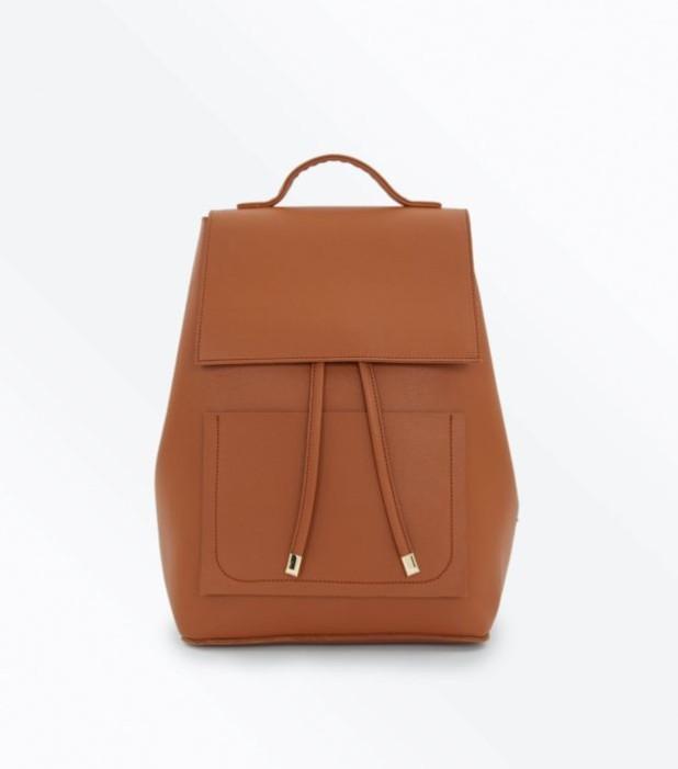 Модный коричневый кожаный рюкзак 2018-2019