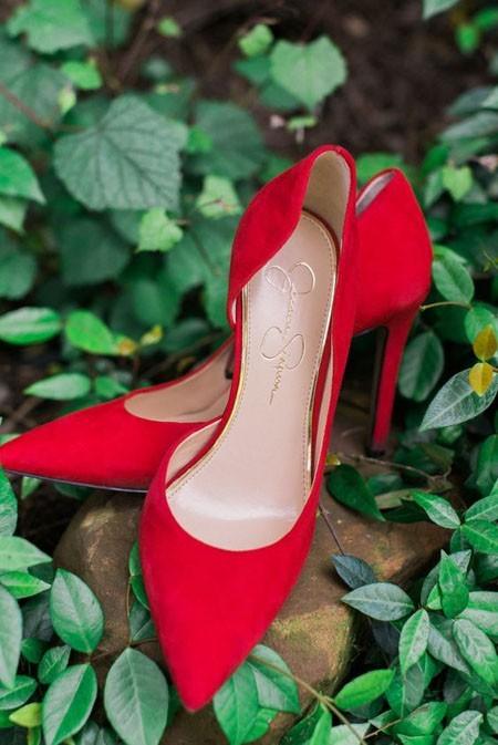 модные туфли 2018: красные женские