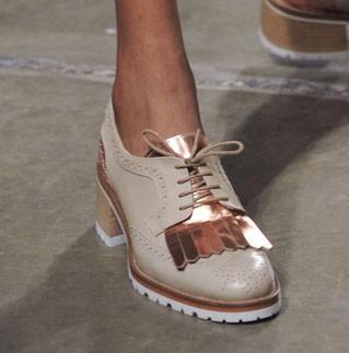 модные туфли 2018-2019 года: женские на тракторной подошве