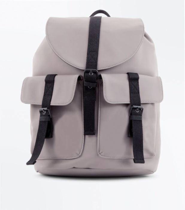 Модный сиреневый кожаный рюкзак 2018-2019