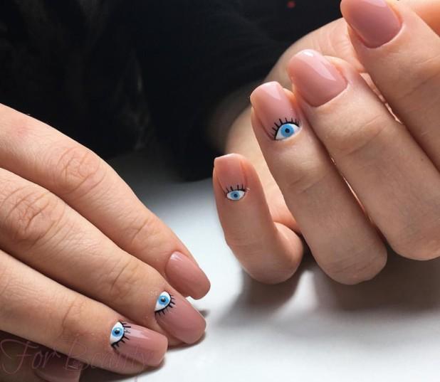 Лунный маникюр 2018 на длинные ногти