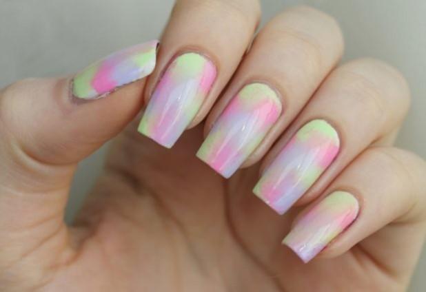 Градиентный маникюр на длинные ногти