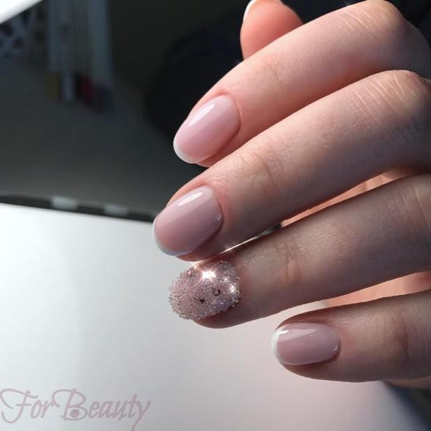 Маникюр с кристаллами пикси 2018 на длинные ногти