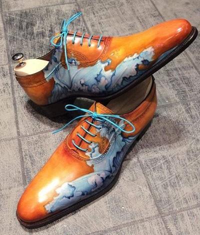 мужская обувь с принтом