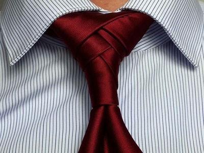 узел модного галстука азиатский узелок