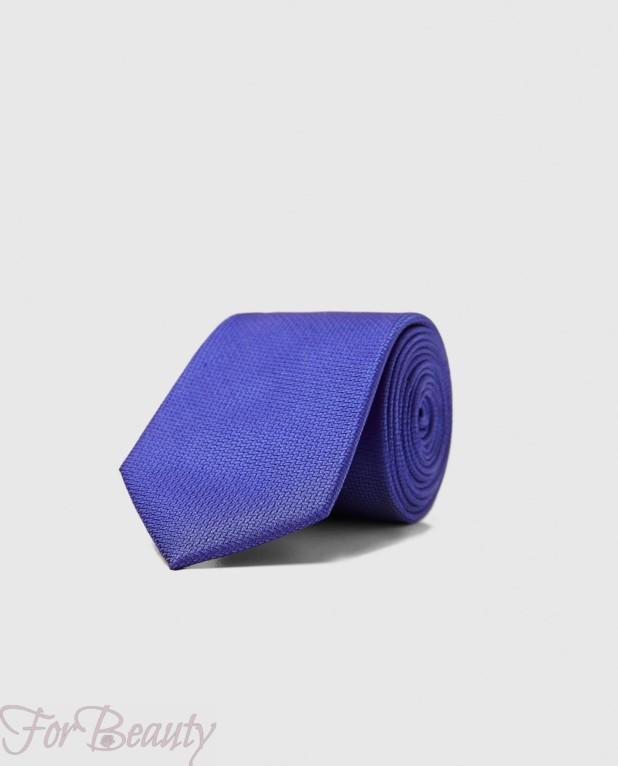 Модный синий  галстук 2018