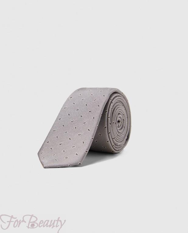 Модный серый галстук 2018