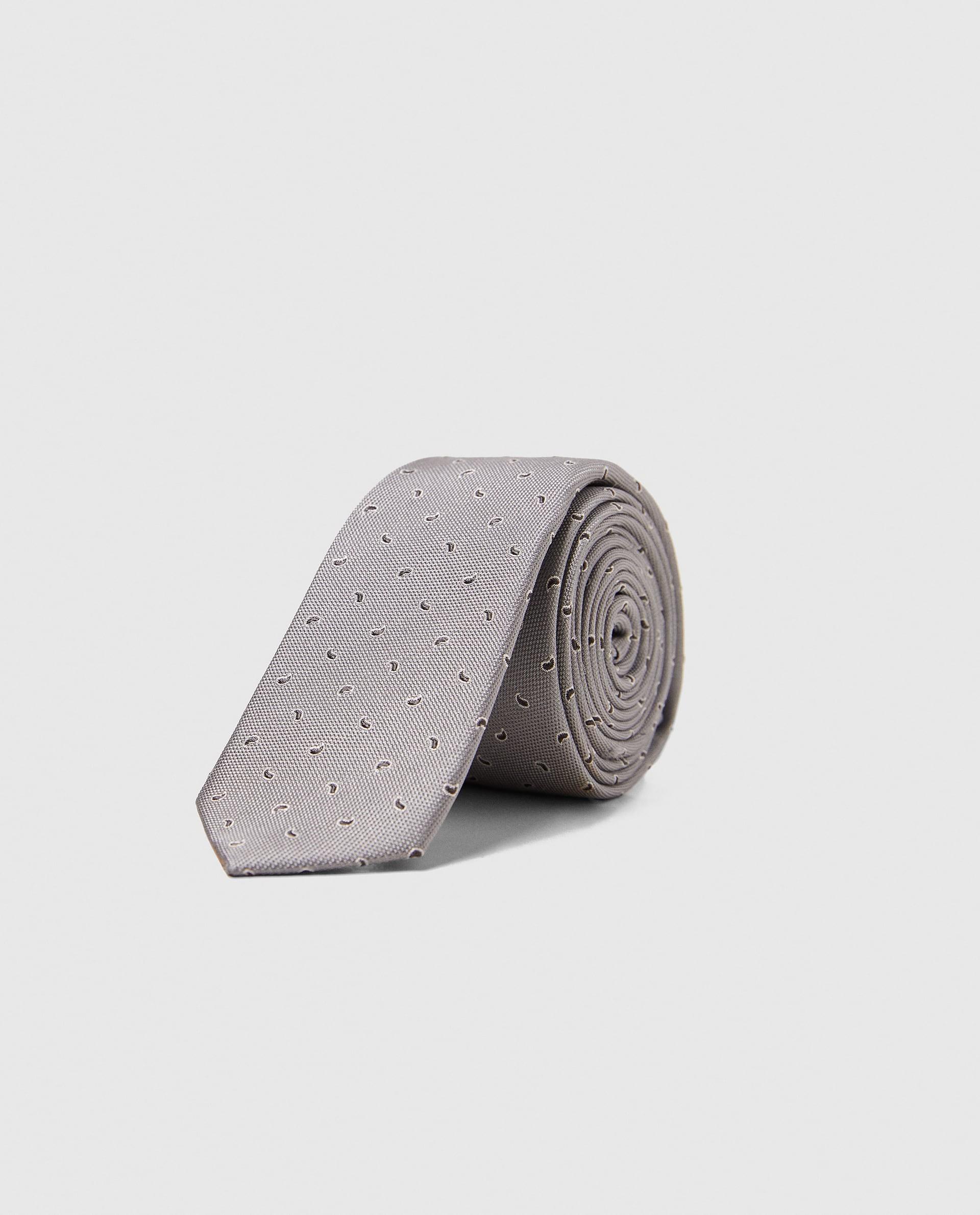 Модный серый галстук 2018-2019