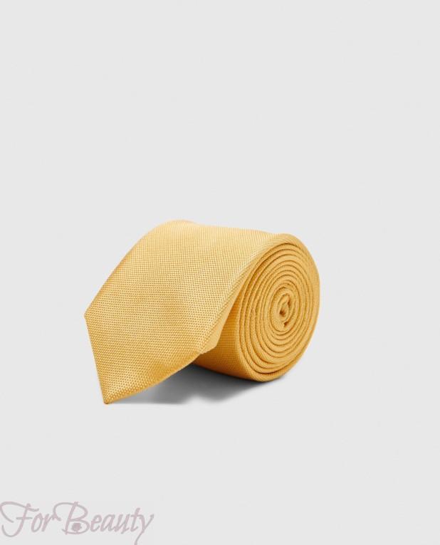 Модный желтый галстук 2018