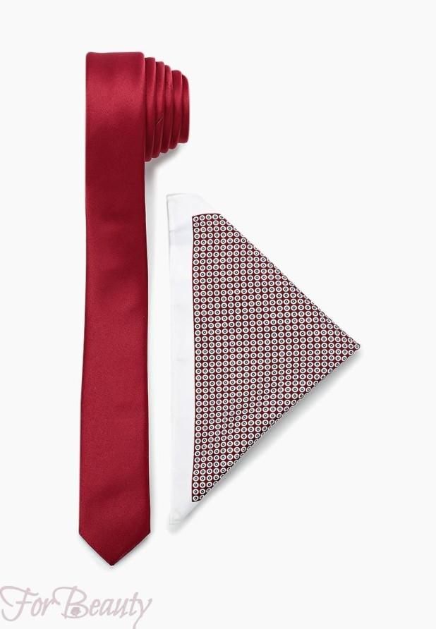 красный галстук 2018-2019 для мужчин