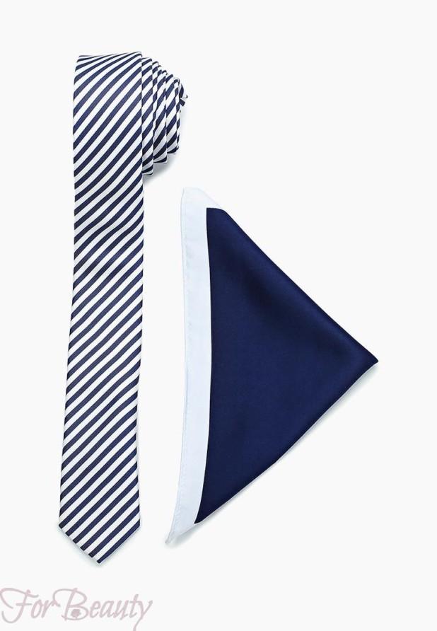 синий галстук 2018 для мужчин