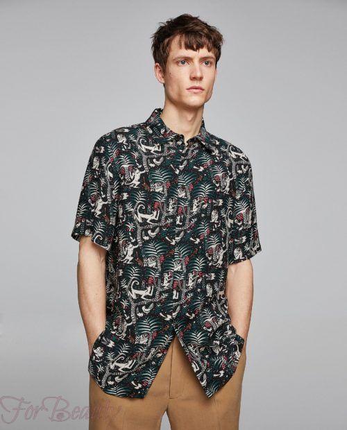 модные мужские рубашки 2018: спринтом джунгли