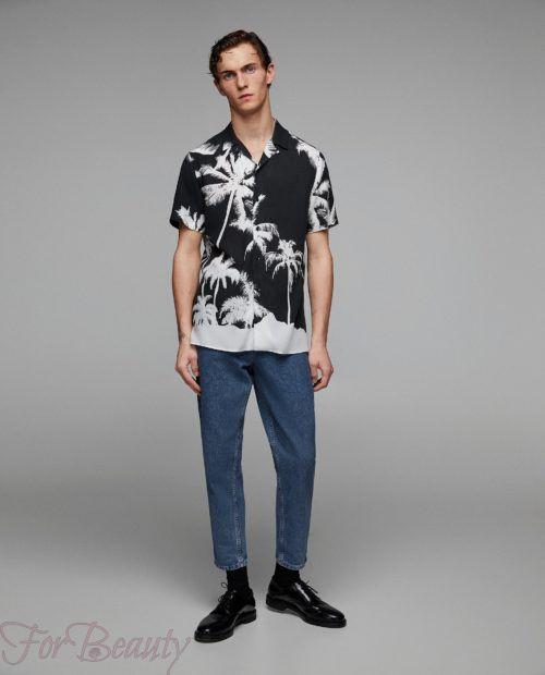 модные мужские рубашки 2018: спринтом черная пальмы