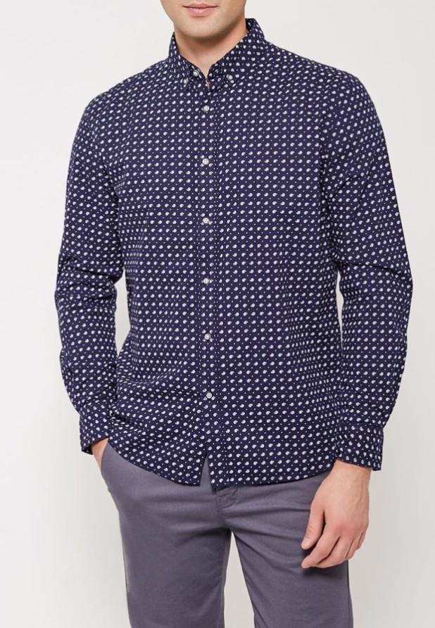 модные мужские рубашки 2018 2019: синяя