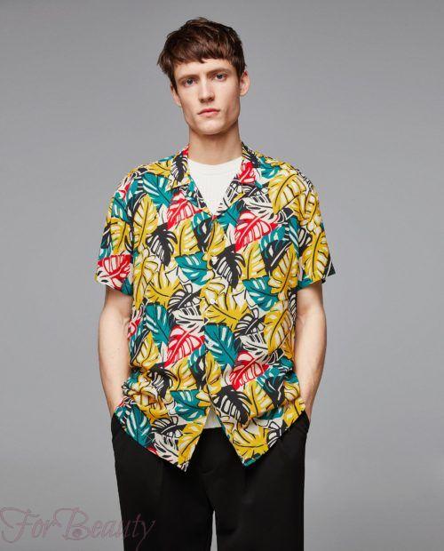 модные мужские рубашки 2018: спринтом листья