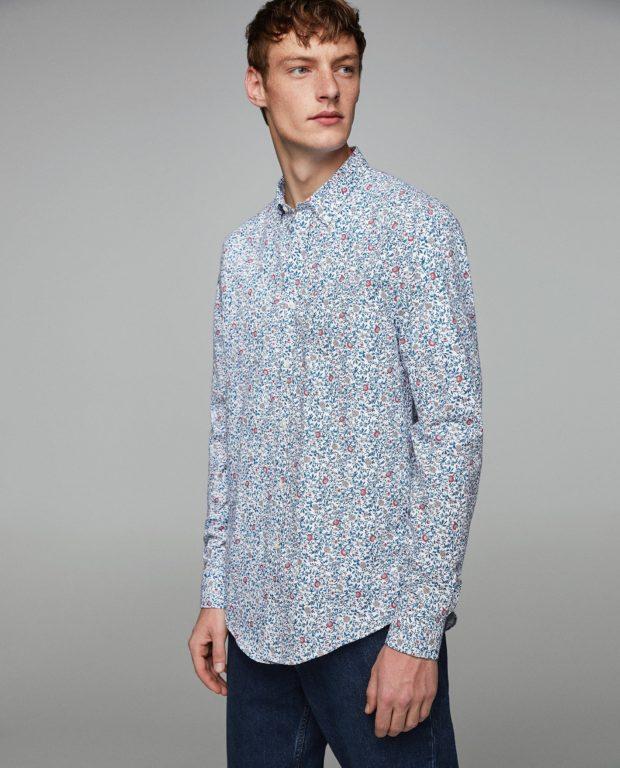 модные мужские рубашки 2018 2019: спринтом цветок
