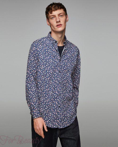 модные мужские рубашки 2018: спринтом цветочки