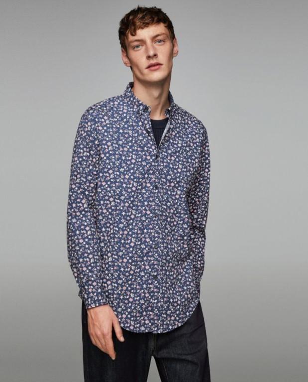 модные мужские рубашки 2018 2019: спринтом цветочки