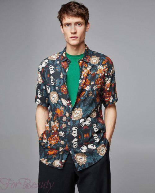 модные мужские рубашки 2018: спринтом цветы