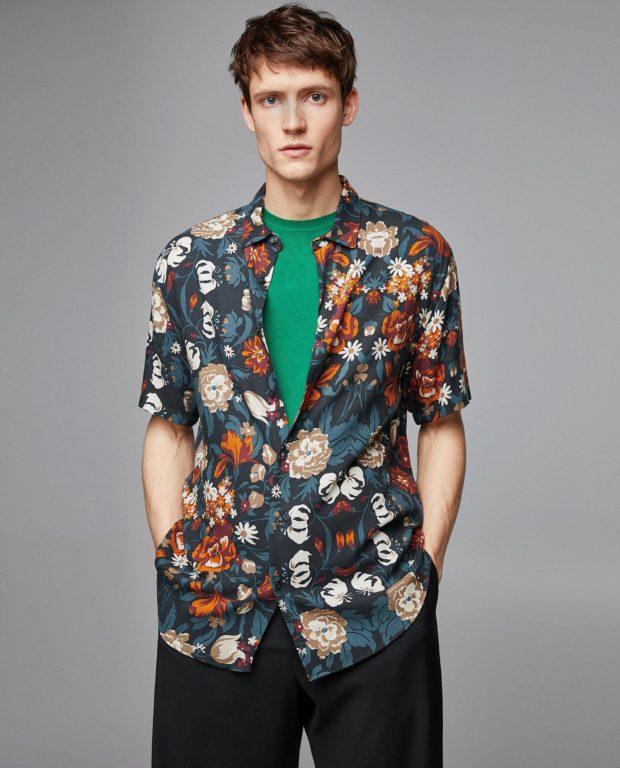модные мужские рубашки 2018 2019: спринтом цветы