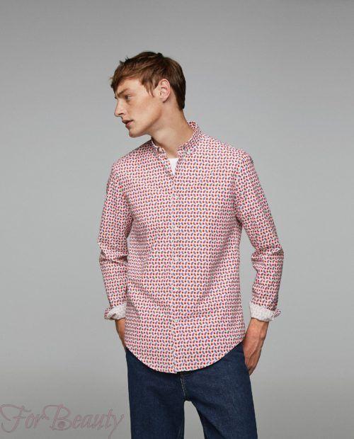 модные мужские рубашки 2018: спринтом красные точки