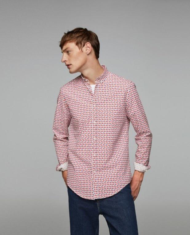 модные мужские рубашки 2018 2019: спринтом красные точки
