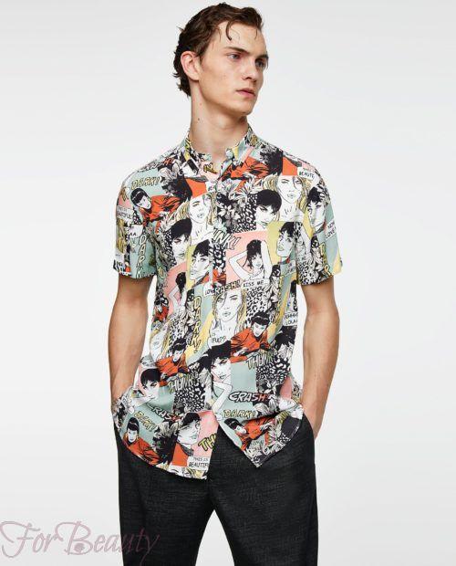 модные мужские рубашки 2018: спринтом лица