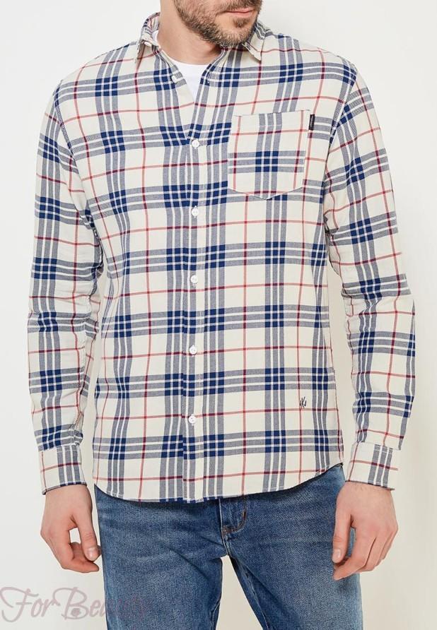 мужские рубашки мода 2018: в клетку красная синяя
