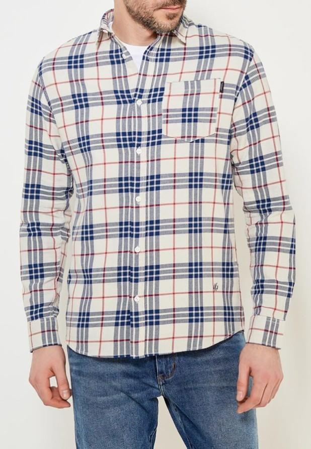 мужские рубашки 2018 2019: в клетку красная синяя