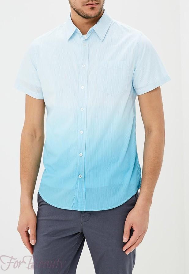 мужские рубашки 2018 мода: в полоску градиент