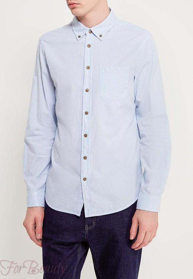мужская рубашка в полоску 2018