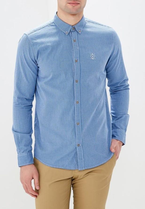 мужские рубашки: в полоску синяя