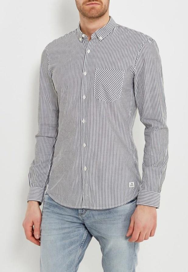мужские рубашки: в полоску черную
