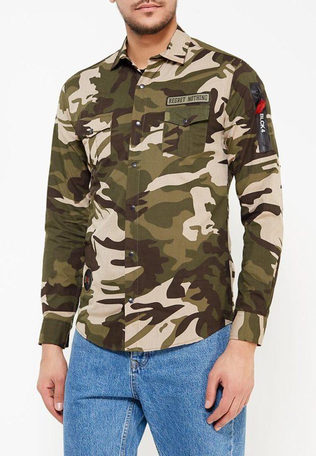 мужские рубашки:милитари хаки