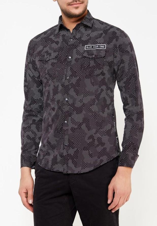 мужские рубашки:милитари черная