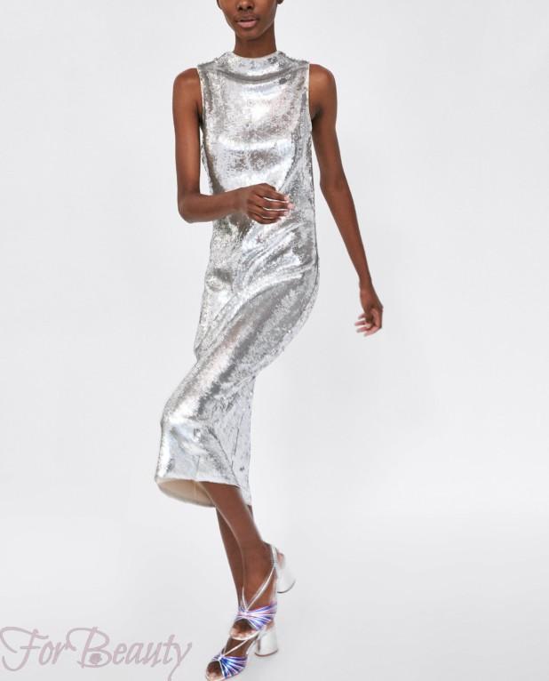 серебряное платье на каждый день 2018