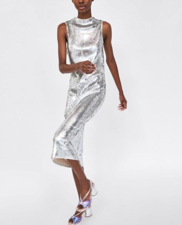 Модные платья 2018-2019 на каждый день: серебряное