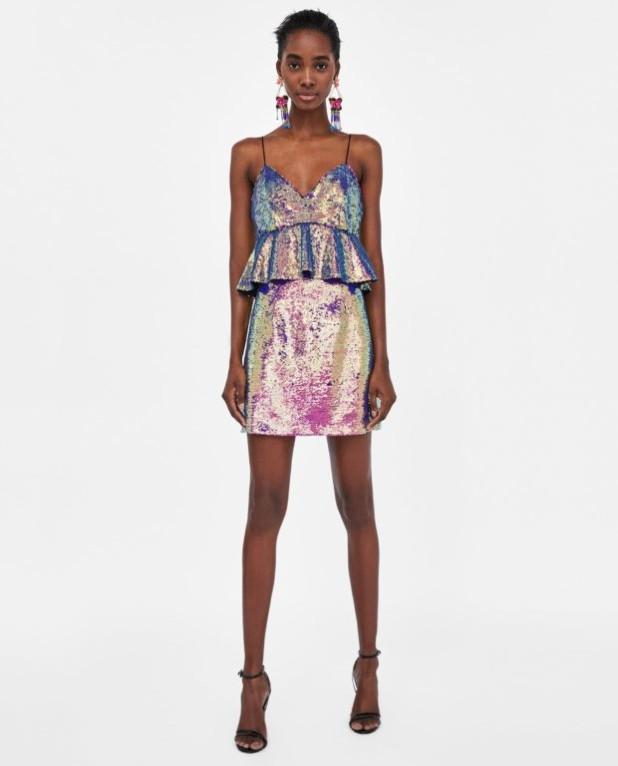 Модные платья 2018-2019 на каждый день: блестящие