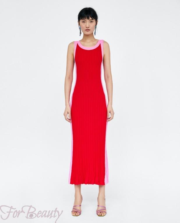 красное платье на каждый день 2018