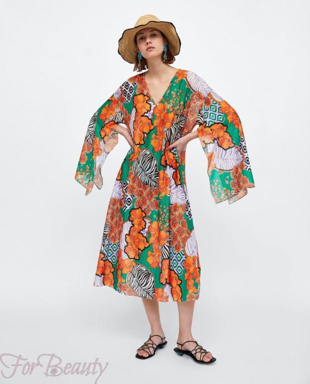цветное платье на каждый день 2018