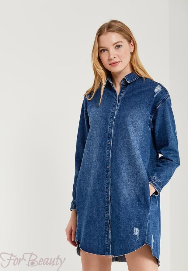 джинсовое платье рубашка на каждый день 2018