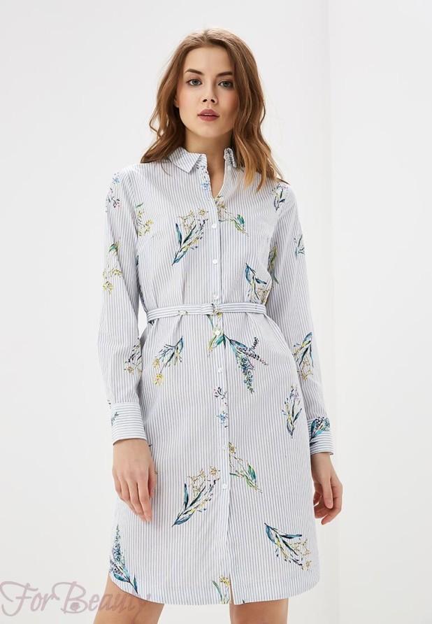 белое платье рубашка на каждый день 2018