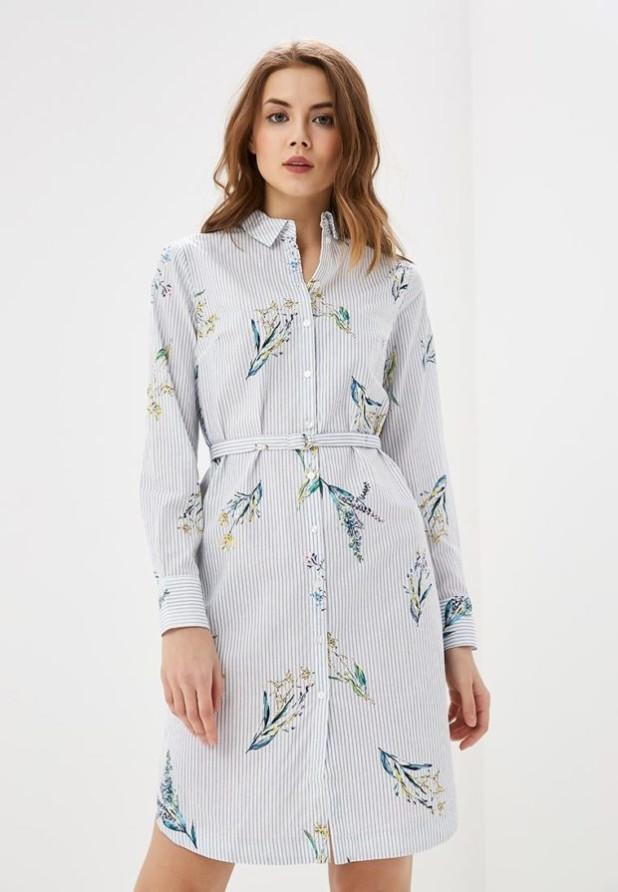 стильное платье на каждый день: белое рубашка