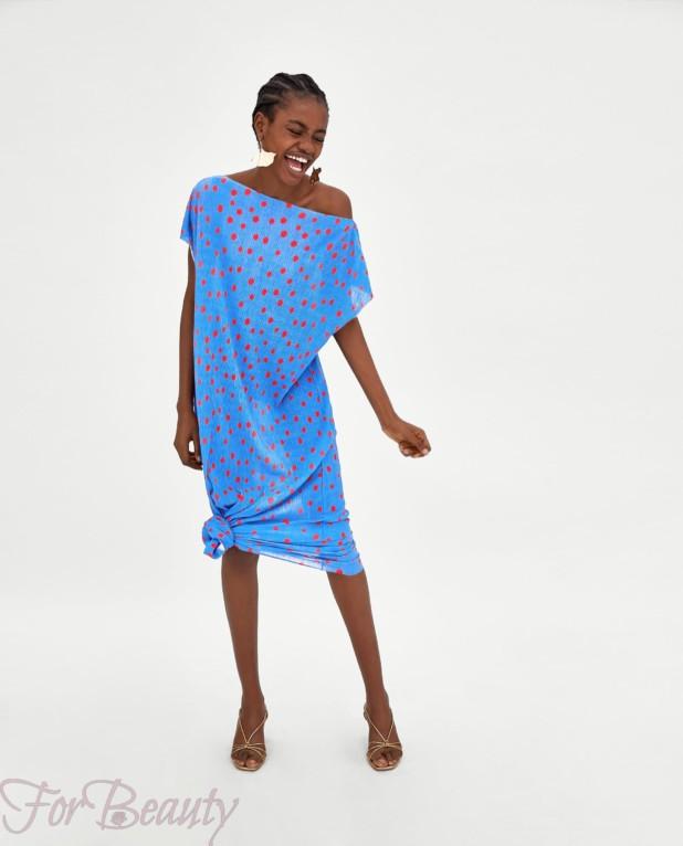 голубое платье на каждый день 2018