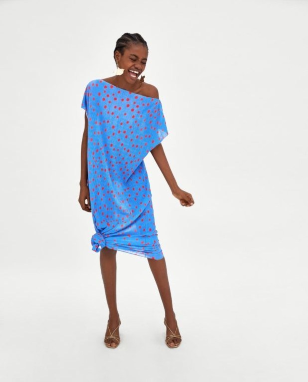 Модные платья 2018-2019 на каждый день: голубое