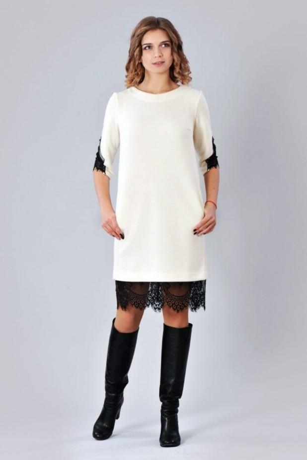 стильное платье на каждый день: Трикотажное белое