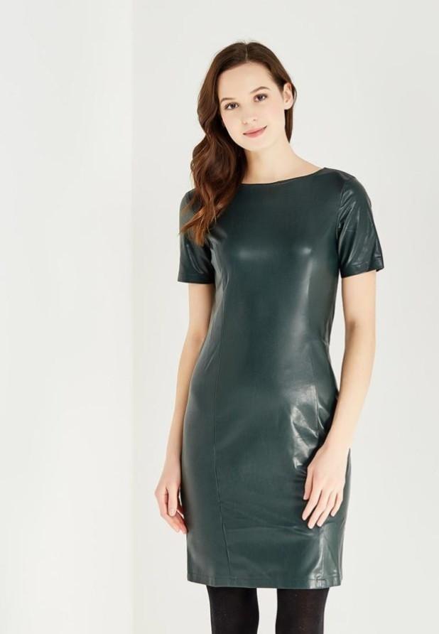 Модные платья на каждый день: кожаное