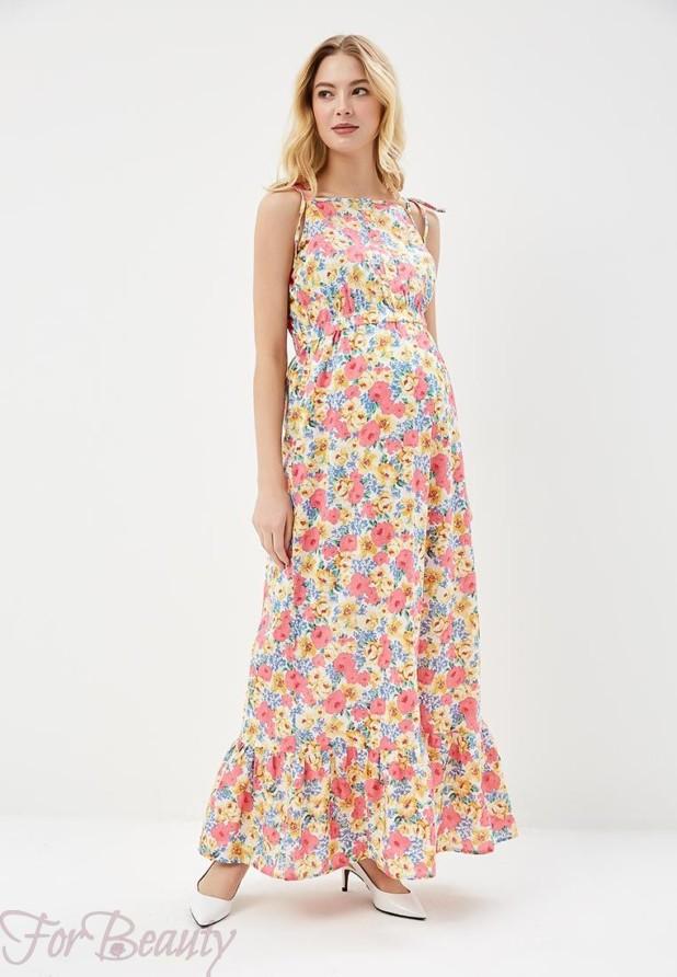 повседневное платье с цветочнымпринтом2018