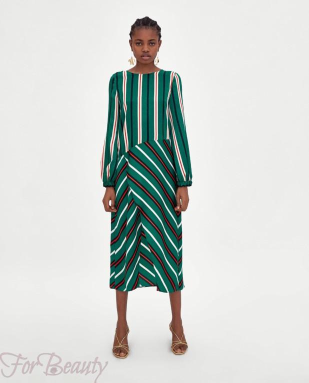 зеленое платье на каждый день 2018