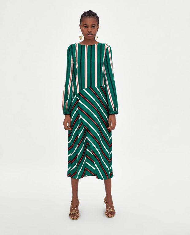 Модные платья 2018-2019 на каждый день: зеленое